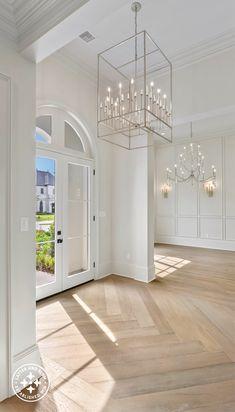 Wood, Herringbone Wood Floor, Interior, Home, Foyer, Hardwood Floors, Gas Fireplace, Flooring, Renovations