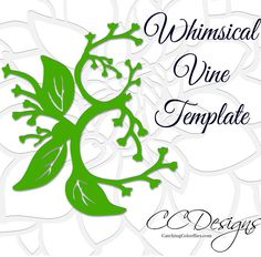 Leaf and vine printable PDF templates and SVG cut files. PLEASE READ FULL DESCRIPTION. THANK YOU. Hand cut or use with your cutting machine. This listing includes: 7 LEAF VINES ♥ You will receive the set of 3 leafy vines, long fern vine, skinny vine, round-tip vine, and whimsical