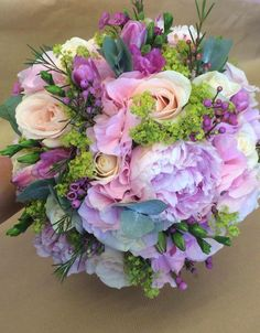 Beautiful mixed peony bouquet. Designed by Mrs Bouquets - Dewsbury.