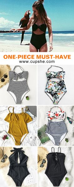 Start to shine~ These flattering swimwear are chic must-have of the year! Your perfect option for beach vacation! Listen! The sea is calling! Get our fantastic one-pieces ready with you at Cupshe.com ! FREE shipping~