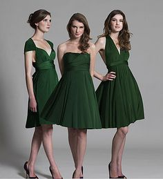 multiway knee length bridesmaid dress by in one clothing | notonthehighstreet.com