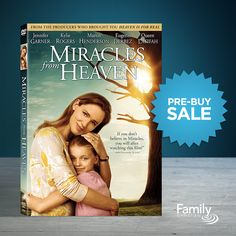 Your whole family will believe in miracles after watching this inspiring true story. Reserve your copy of Miracles From Heaven today and save $8.
