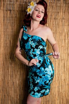 Paradise Dress - Tahiti Blue