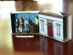 Large Matchbox House: Miniature Room inside a Matchbox