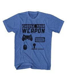 Royal Blue Heather 'Choose Your Weapon' Tee