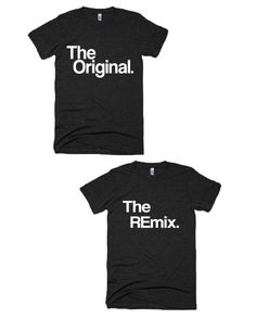 "Our adult ""The Original"" ""The REmix"" tees come in scoop neck and v-neck style! Check the link in bio!"