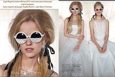 ec58182e04a5 Vogue Magzine features Mercura NYC New Age Glamour original round caviar pearl  sunglasses and pot pearls