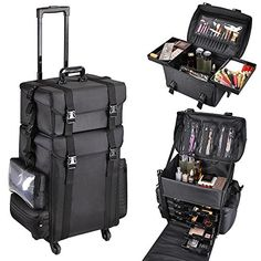 online shopping for AW Black Oxford Soft Sided Rolling Makeup Case Cosmetic Stroage Trolley Train Bag Makeup Luggage from top store. See new offer for AW Black Oxford Soft Sided Rolling Makeup Case Cosmetic Stroage Trolley Train Bag Makeup Luggage Cosmetic Train Case, Makeup Train Case, Travel Cosmetic Bags, Cosmetic Storage, Cosmetic Box, Mary Kay, Makeup Trolley, Rolling Makeup Case, Trolley Case