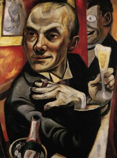 Max Beckmann, Self-portrait with Champagne Glass (oil on canvas, 1919)