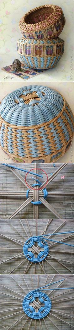 мастер-класс по плетению донышка корзинок