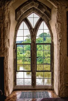 Arched window in Leeds Castle, in England. #Castles #MostBeautifulArchitecture