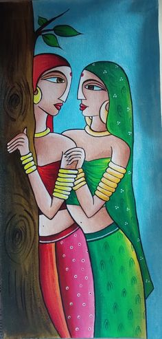 Buddha Painting, Krishna Painting, Small Canvas Art, Diy Canvas Art, Painting Gallery, Art Gallery, Heena Design, Kalamkari Painting, Madhubani Art
