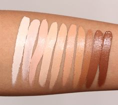 Nars Radiant Creamy Concealer: Chantilly, Vanilla, Honey, Custard, Ginger, Biscuit, Caramel, Amande, Cafe and Cacao