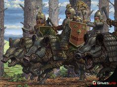 Dwarven Boar Riders, Matthew Melmeth on ArtStation at https://www.artstation.com/artwork/dwarven-boar-riders