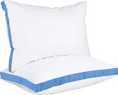 We'd need four pillows total Utopia Bedding Gusseted Pillow (2-Pack) Premium Quality Bed Pillows - Side Back Sleepers - Blue Gusset - King - 18 x ...