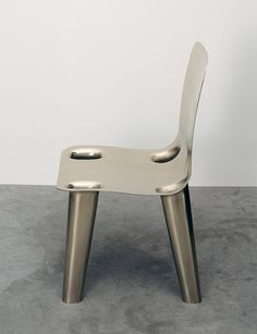 Marc Newson. Nickel Chair. 2007. Gagosian Gallery, New York.