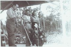 Patty Thomas, Bob Hope,  & Frances Langford; South Pacific, 1944. USO Camp Shows, Inc. - SWPA. | The Library of Congress