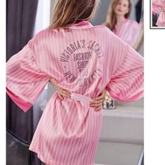 Victoria's Secret Fashion Show Robe w/ FREE GIFT Comes with the iconic pink stripes vs dream Angels panty that retails $16! Let me know if you want to bundle as well! (: will be taking back to store or gifting to a friend by the weekend! Victoria's Secret Intimates & Sleepwear Chemises & Slips