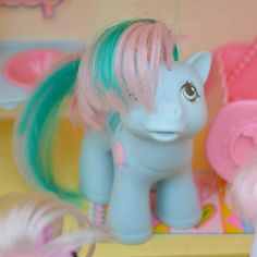 Vintage My Little Pony 'Sweet Celebrations Baby Brother' by TeaJay, Turquoise Blue MLP G1