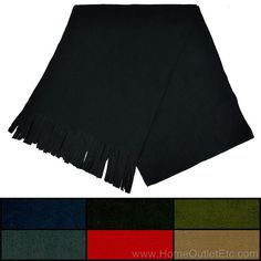Fleece Fringe Scarf Muffler Neck Wrap Warmer Shawl Plain Solid Unisex Mens 60x10 #Dolce #Scarf
