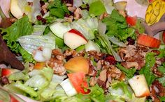 Ring in the season with an autumn harvest Paleo style Waldorf salad! A healthful Paleo option spruced up with organic veggies, fruits, berries, and nuts.