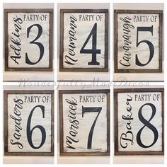 Party of with family name . Farmhouse signs - Most creative decoration list Diy Bedroom Decor, Diy Home Decor, Living Room Decor, Decor Room, Bedroom Wall, Bedroom Furniture, Nursery Decor, Living Rooms, Country Decor