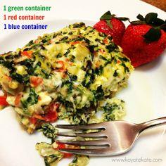 The 21 day fix egg soufflé created by coach Kate Brockmeyer www.facebook.com/koyotekate