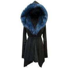 Asylum Coat | Prussian Blue | Sanctus... I'd even out the bottom hem. I'm not a fan of the a-symmetrical thing on myself.