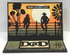 StampOwl's Studio: Dad Masculine Birthday Cards, Birthday Cards For Men, Masculine Cards, Male Birthday, Australian Christmas Cards, Aussie Christmas, Westerns, Birthday Verses, Xmas Cards