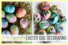 Use PAAS' Tie Dye kit and black marker to create these fantastically personalized Easter Eggs. Check out the full tutorial from Sugar Bee Crafts.