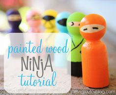 Wooden peg people/ninjas#Repin By:Pinterest++ for iPad#