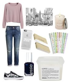 """""""Mrs. Collins"""" by meli-yadira ❤ liked on Polyvore featuring Chicnova Fashion, H&M, Vans, Casetify, Essie, Davines and Free People"""