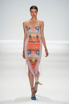 Floaty and tribal with interesting hem.. elongating. Mara Hoffman Spring 2014