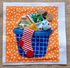 Wheres Max? Hiding in the laundry! Where is his bone? cute LindyJDesign #quiet book pattern
