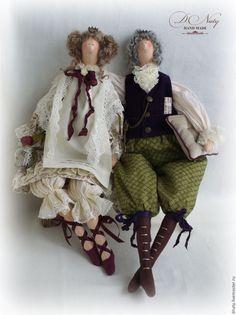 Купить Король с Королевой - тильды, куклы тильды, король, королева, королевская чета, интерьерные куклы
