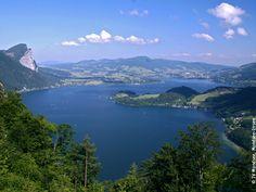 """Mondsee (""""Moon Lake"""") - Mondsee / Salzkammergut, Austria"""
