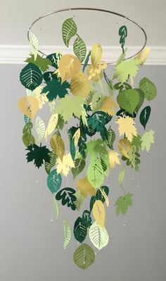 Falling leaves mobile (summer) green and yellow boy room mo .- Falling leaves mobile (summer) green and yellow- boy room mobile,nursery mobile,baby boy mobile,photo prop,baby mobile Leaves mobile Boy Girl Room, Baby Boy Rooms, Baby Boy Nurseries, Girl Nursery, Nursery Ideas, Jungle Nursery, Room Ideas, Nursery Room, Jungle Baby Room