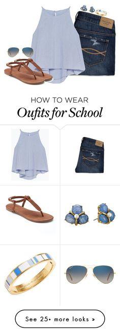 Blue tank top, dark denim jeans, brown sandals, stud earrings and striped bracelet