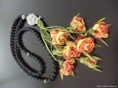 Flores miniatura hechas de cintas.  Talleres (39) (700x525, 246Kb)