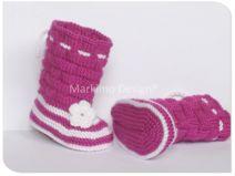 Babysocken Babyschuhe Boots Socken gestrickt Gr 16