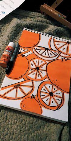 aesthetic easy painting drawings paintings canvas indie drawing crafts fruit sketch acrylic projects orange beginner simple tiktok arte artsy coloring