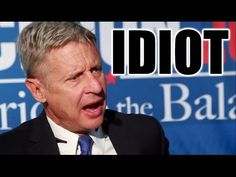 Gary Johnson is a Complete Idiot - NOT even close to a libertarian. The entire system is completely sold out and people still believe in this illusion of choice...