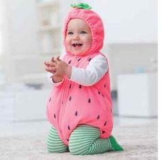 nwt carters strawberry halloween costume size 3 6 months or 6 9 months warm