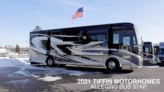 Take a look inside our new 2021 Tiffin Motorhomes Allegro Bus 37AP Luxury Class A RV diesel pusher. Rv Bus, Rv Campers, Tiffin Motorhomes, Luxury Motorhomes, Class A Rv, Luxury Bus, Expedition Truck, Rv Interior, Motor Homes