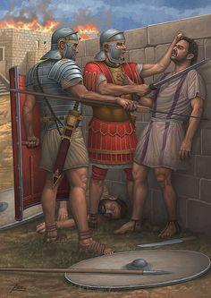 Scene from the Bar Kochba Revolt (132-135 AD) by Angel Garcia Pinto.