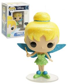 Disney Tinker Bell (Glitter) - Diamond Collection - New, Mint Condition - Funko Funko Pop Dolls, Funko Pop Figures, Pop Vinyl Figures, Tous Les Disney, Best Funko Pop, Funko Pop Display, Pop Disney, Disney Treasures, Chibi