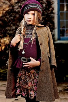 Ralph Lauren Children's Wear Fall 2012.  Classic Faire Isle sweaters and fur trim will have your kids feeling cozy this fall.