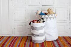 Organizador de brinquedos de tecido é versátil e útil