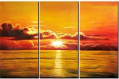 Canvas Art - Wall Art finished in USAHistory: Life on the water was made for moments like these. The orange sunset casts its last light over a calmly rippling sea. The glori