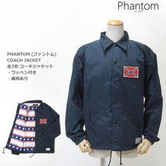 PHANTOM ( ファントム ) レベルフラッグ カスタム コーチジャケット REBEL FLAG COACH JACKET ( NAVY )